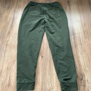 Anthropologie joggers Camo army green